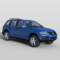 volkswagen touareg vehicle sports 3d max