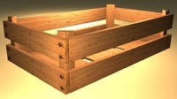 simple wooden fruit crate 3d max