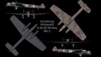 3d rare planes whitley mk-3
