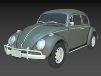 1963 volkswagen beetle 3d max