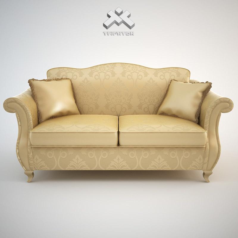 Max photorealistic sofa chantal for Divan ovalia 05 version 2