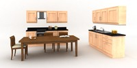 fitted kitchen dining table 3ds
