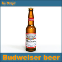 lightwave budweiser beer bottle
