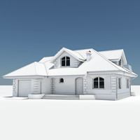 3d model of single house garage