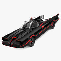 3d realistic batmobile 1966