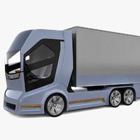 realistic concept truck vision 3d 3ds