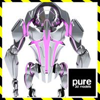 3d futuristic robot mech model