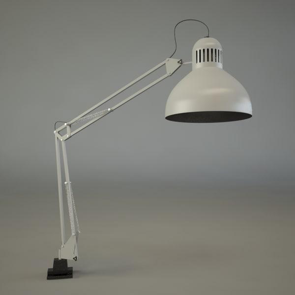 Ikea tertial 3d max for Tertial floor reading lamp
