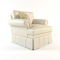 3d armchair arm chair model