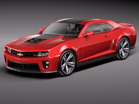 3d model chevrolet camaro zl1 2012