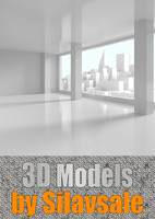 3d view downtown window scene model