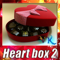 3d heart box 8 chocolates model
