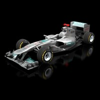 3ds max mercedes w02