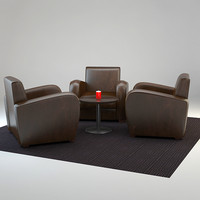 3d model lounge seating table v-ray