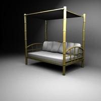 bamboo sofa 3d ma