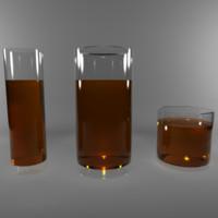 maya photorealistic glass cups