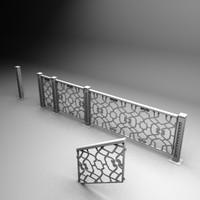 3d handrail model