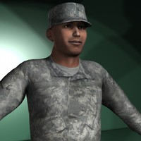 military characters 3d x
