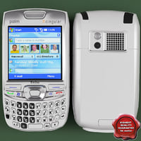 palm treo 750 white 3d model