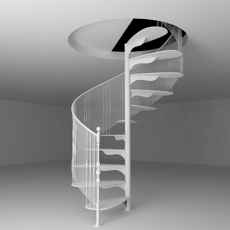 3d model spiral stairs for Spiral stair dwg