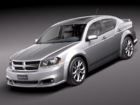 dodge avenger 2012 rt 3d c4d