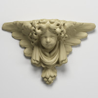 3d stone pedestal angel model