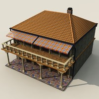 house balcony 3d obj