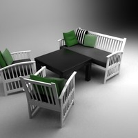 wooden outdoor set