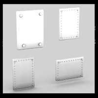 Metal hole cover plates