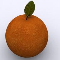 free orange 3d model