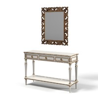 Classic console table mirror set baroque empire luxury carved traditional