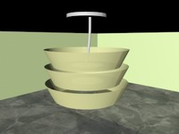 3d living room lamp model