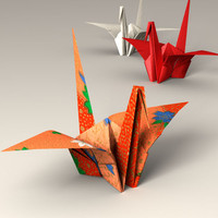 Japanese Papercraft Crane (ORIGAMI)