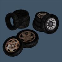 3d 5 tires model