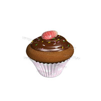 3d cupcake baked chocolate