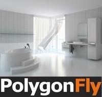 interior polygonfly 3d model