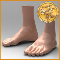 3d human male feet