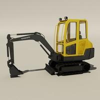 3d compact excavator 1