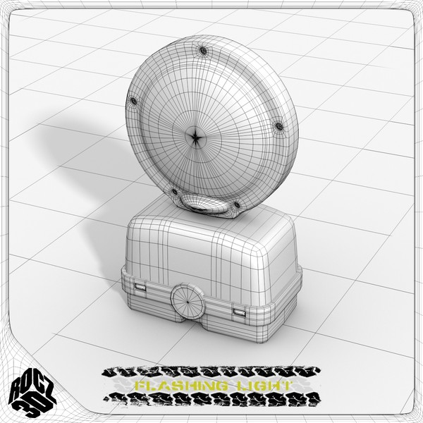 3d flashing light model - Flashing Warning Light-Rocz3D... by Rocz3D