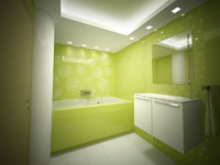 green bathroom room max