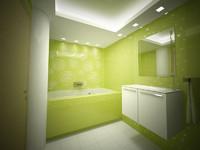 green bathroom room max
