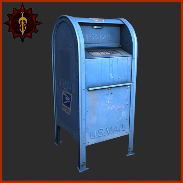 3d model mailbox mail box - Mailbox... by coronagalvez19