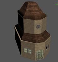 3ds max hut