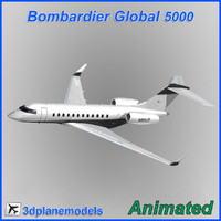 Bombardier Global 5000 Private livery 5