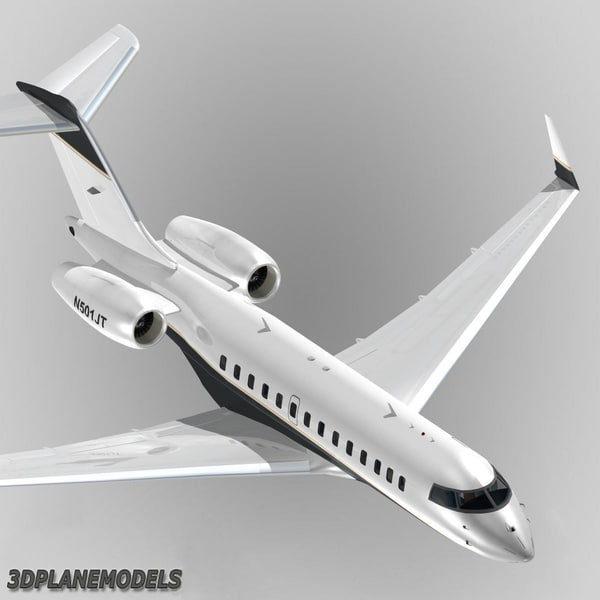 bombardier global 5000 max - Bombardier Global 5000 Private livery 5... by 3Dplanemodels