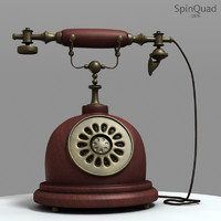 retro telephone - 3d model