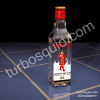 3ds max photorealistic beefeater gin bottle