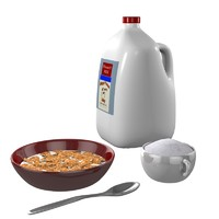 cereal breakfast 3d model