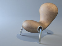 marc newson embryo chair design 3d model