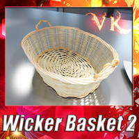 fruit basket wicker 3d model